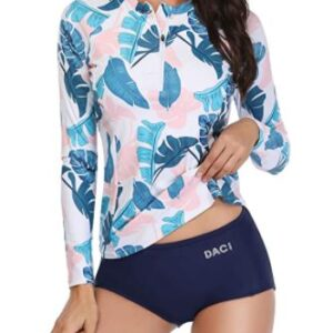 two part swimsuit long sleeve